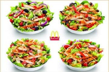 Mc Donald's raffole des salades