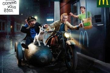 McDo s'approprie Tintin, Lara Croft et Taxi