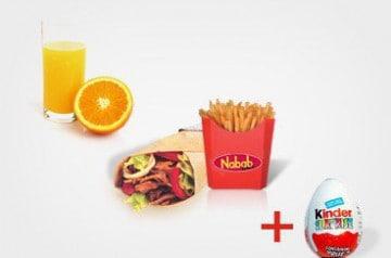 Menu pour enfant chez Nabab Kebab