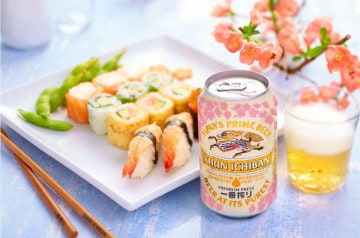 Menu Sakura et bière Kirin chez Eat Sushi