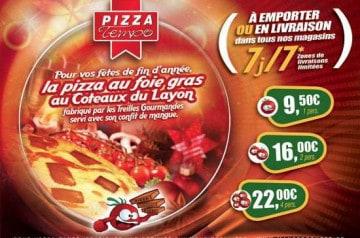 Offres de janvier Pizza Tempo