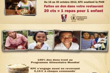Partenariat PAM et KFC