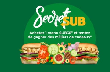 Participez au concours Secret Sub de Subway
