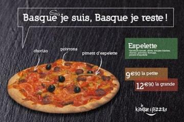 Pizza du mois : la Basque chez Le Kiosque à Pizzas