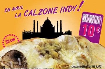 Pizza du mois Pizza Bonici : la Calzone Indy
