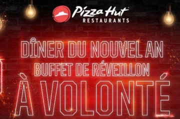 Pizza Hut : Buffet de réveillon