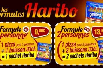 Pizza Tempo et sa formule repas avec un paquet de Haribo