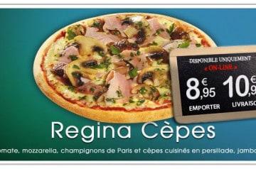 Régina Cèpes signée La Boîte à Pizza