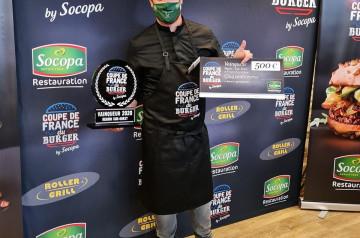 Samuel Besnard, vainqueur de la Coupe de France du Burger