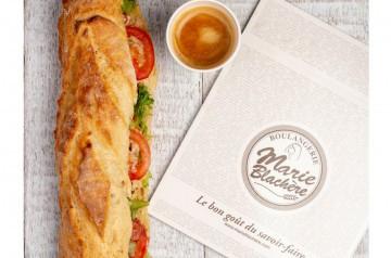 Sandwich brésilien et tarte à la Boulangerie Marie Blachère
