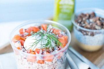 Saumon et autres produits aquatiques à Cojean