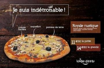 Sélection de pizzas au Kiosque à Pizzas en février