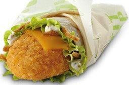 Sélection de sandwiches fast-foods light