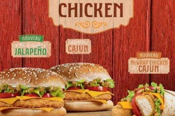 Southern Chicken Cajun chez Mc Donald's