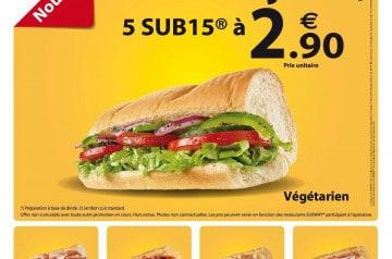 SUB15® en promotion chez Subway
