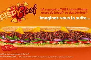 Subway : découvrez le Crispy Beef jusqu'à la fin du mois