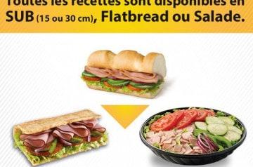 Subway et ses salades d'été