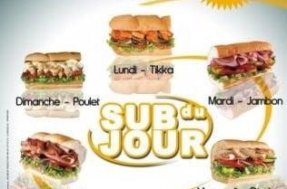 Subway et ses sub du jour à 2,90€!