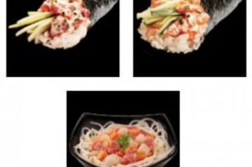 Temaki et Chirashi chez Sushi Shop