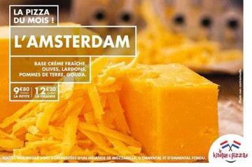 Un goût d'Amsterdam ce mois-ci chez Le Kiosque à Pizzas
