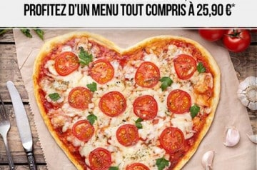 Un menu pour la Saint-Valentin chez Pizza Paï