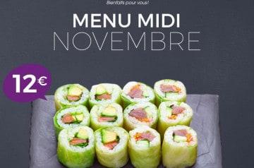 Un menu tout green chez Eat Sushi pour ce mois de novembre