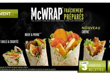 Un nouveau McWrap chez Mc Donald's