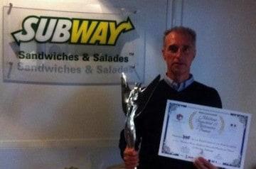 Un trophée d'or pour Subway