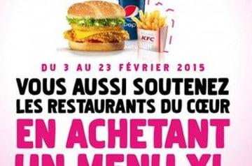 Venez en aide aux Restos du Cœur avec KFC