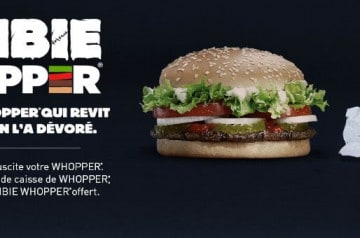 Zombie whopper et halloween chez Burger King