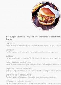 Menu B Chef - Burgers Gourmets