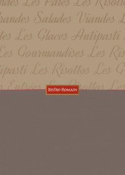 Menu Bistro Romain - carte et menu bistro romain
