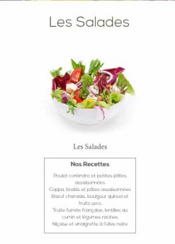 Menu Coeur de blé - Les salades