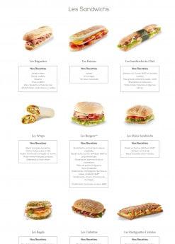 Menu Coeur de blé - Les sandwichs