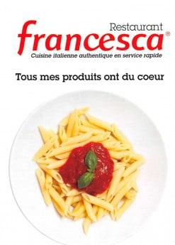 Menu Francesca - carte et menu Francesca