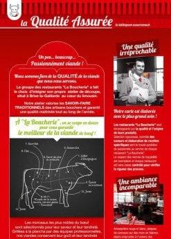Menu La Boucherie - Qualité assurée