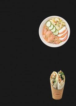 Menu Le club - Salades et wraps