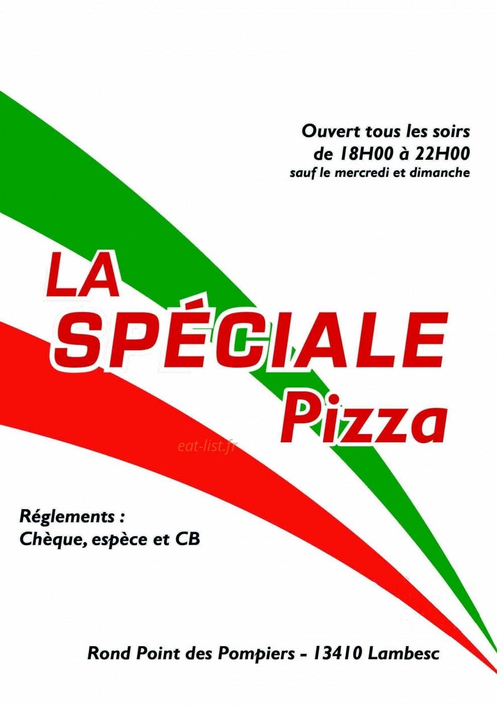 La Table De Chez Nous Lambesc la spéciale pizza à lambesc, carte et menu en ligne