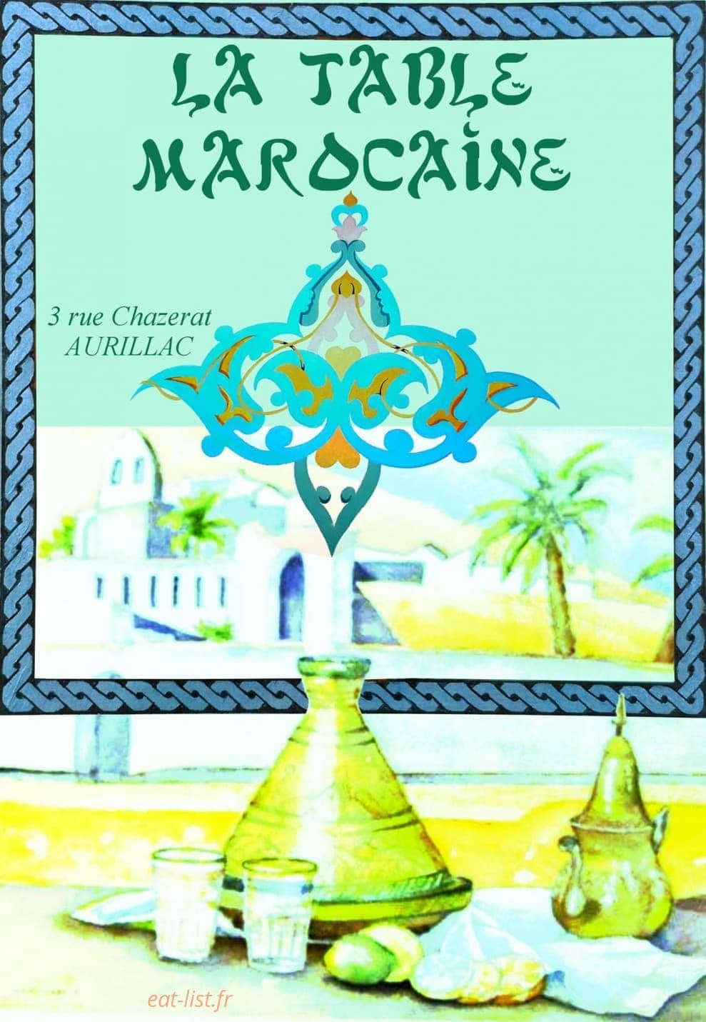 La Table Marocaine A Aurillac Carte Menu Et Photos