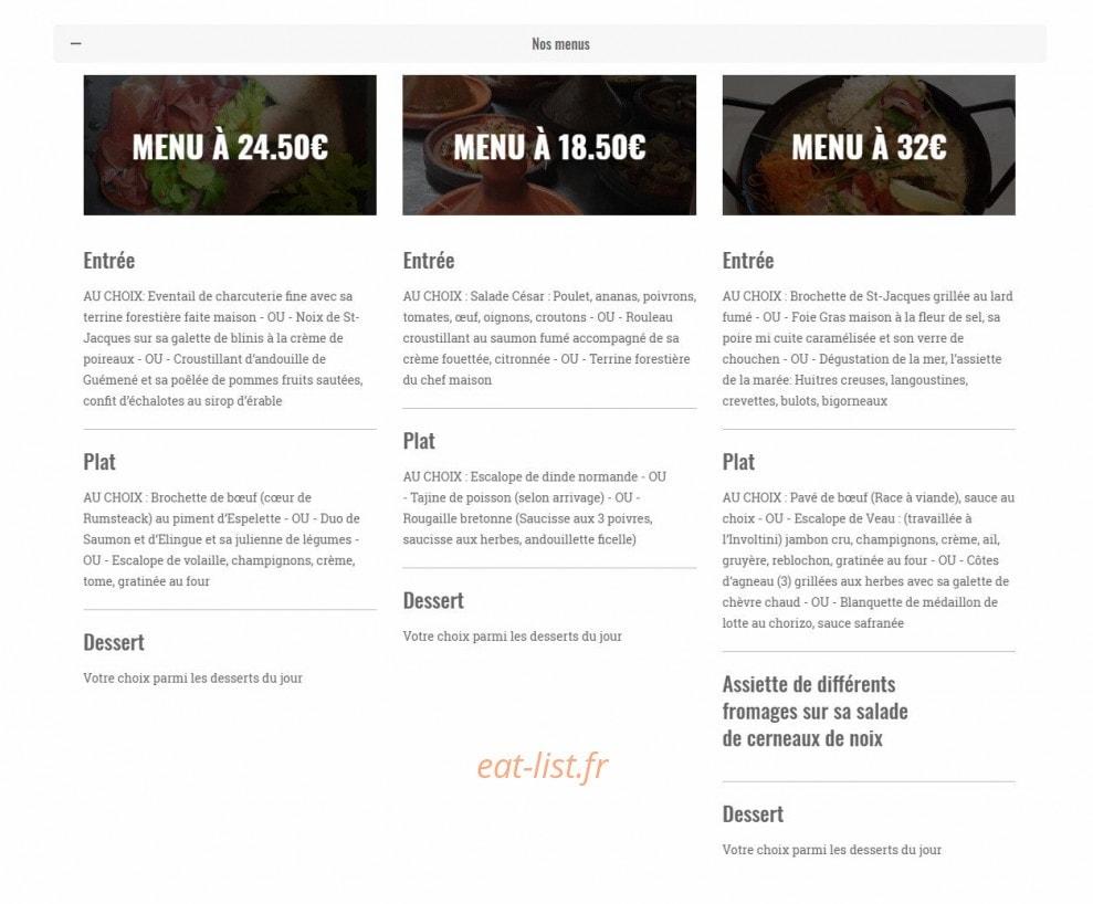 Que Mettre Avec Des Bruyeres les bruyères à spezet, carte-menu et photos
