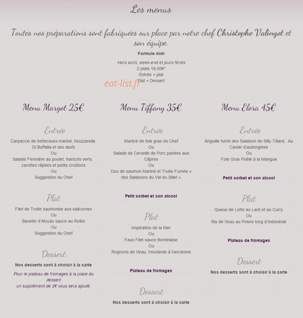 La Table De Celine A Beauvais Carte Menu Et Photos