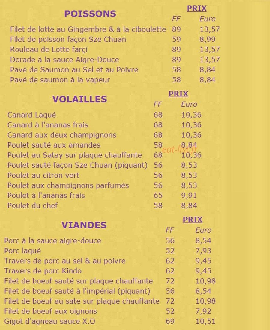La Table De Chine A Paris 14 Carte Menu Et Photos