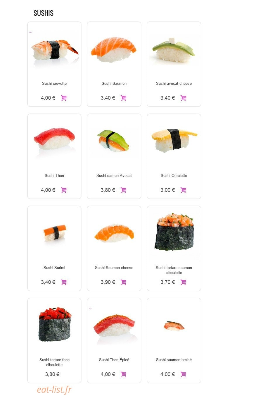 Sushi Sun A Conflans Sainte Honorine Carte Menu Et Photos