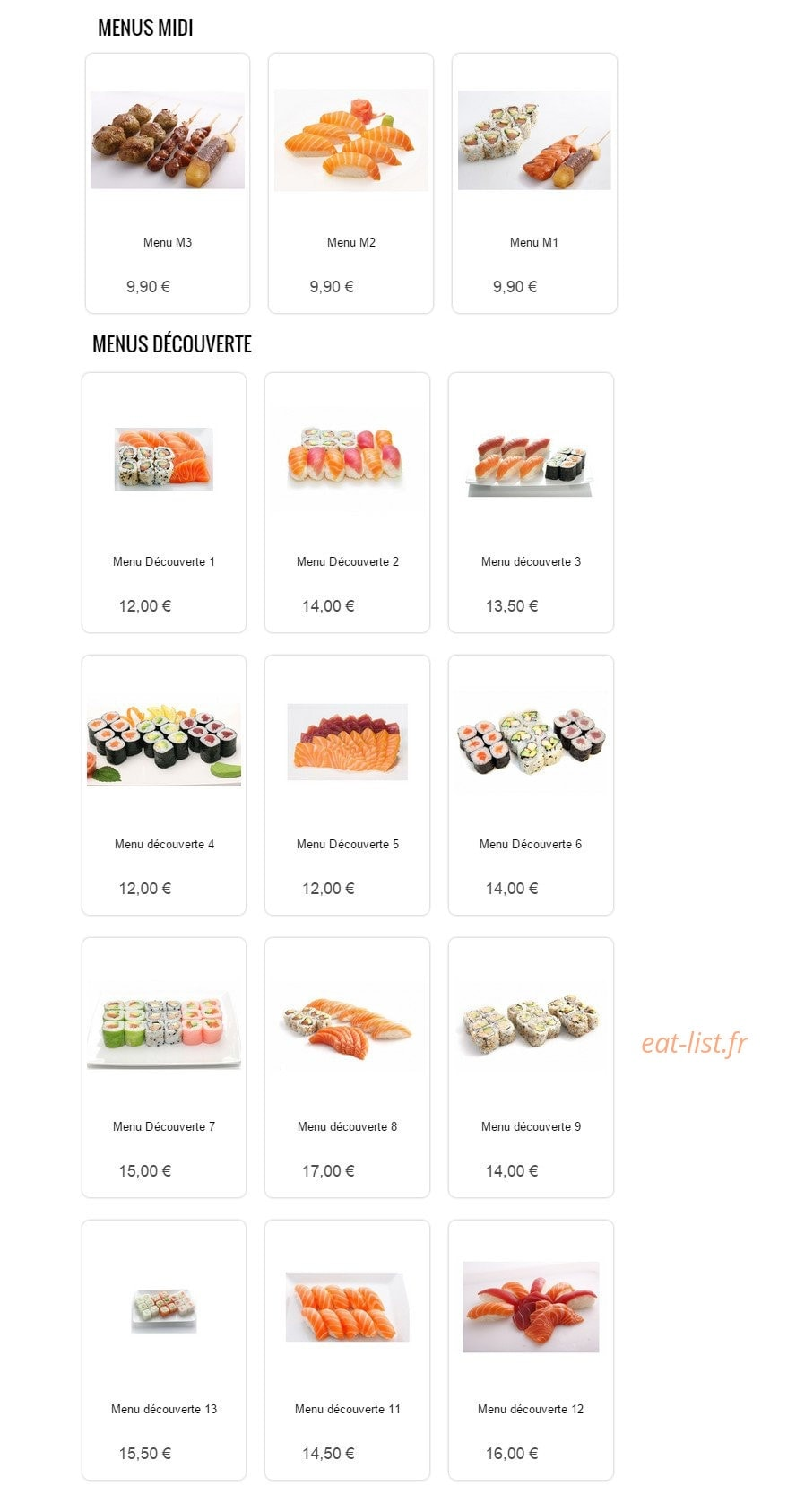 Sushi Sun A Conflans Sainte Honorine Carte Menu Et Photos