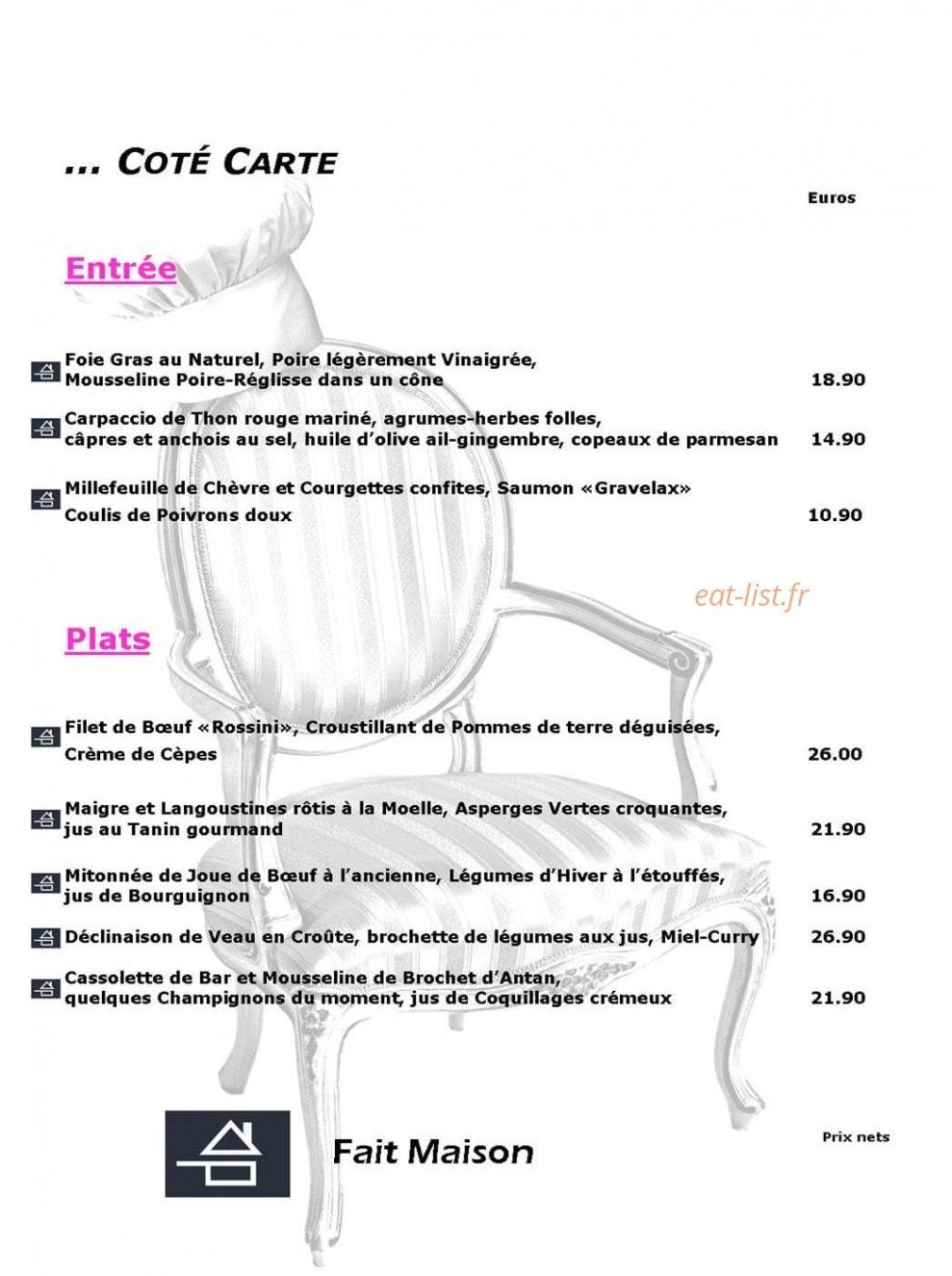 Restaurant Le Plaisir Des Sens Niort plaisirs des sens à niort, carte-menu et photos