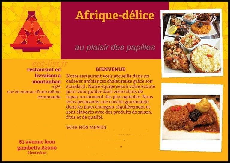 Afrique Delice A Montauban Carte Menu Et Photos