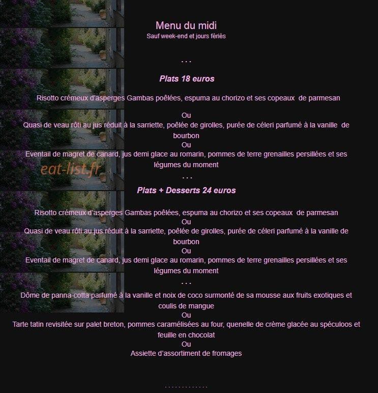 Restaurant La Fleur de Thym à Flayosc, carte-menu et photos