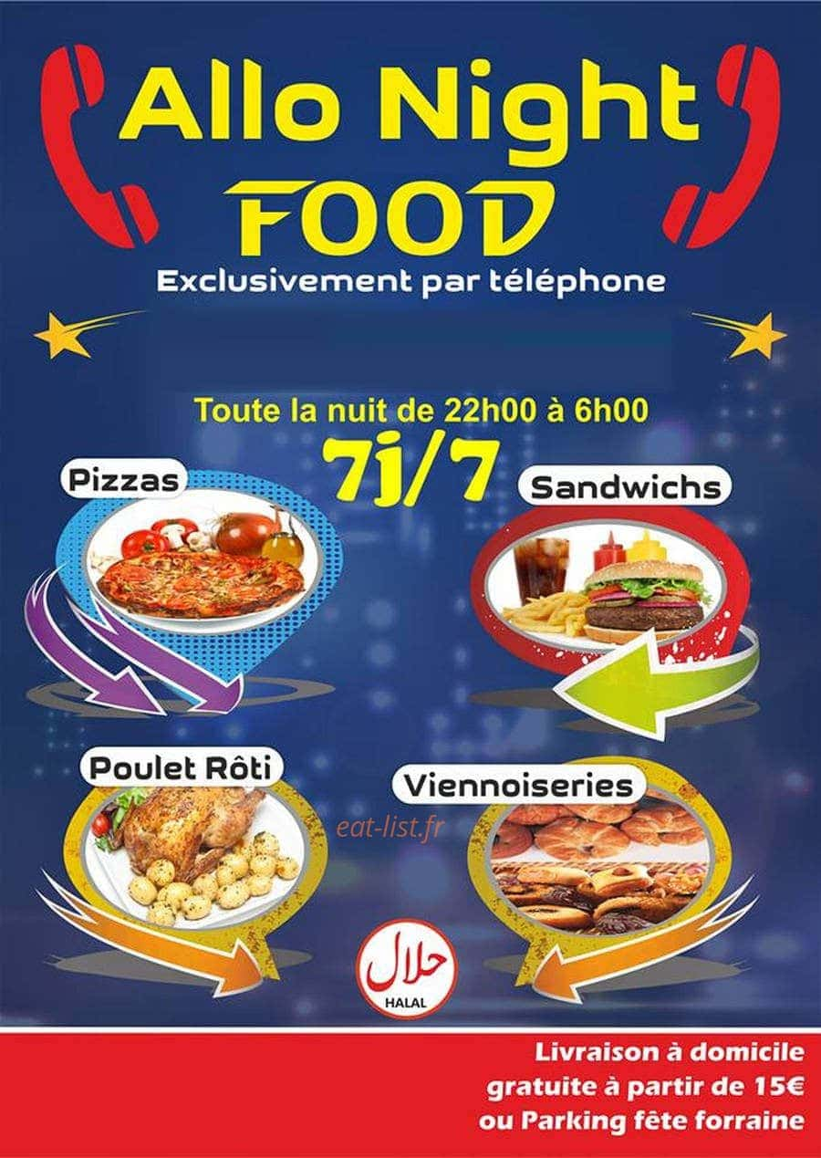 Allo Night Food à Belfort, carte et menu en ligne
