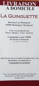 Menu La Guinguette Planes - Informations