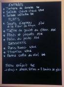 Menu Le Café de la Colonne - Exemple de menu